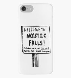 The vampire diaries-Mystic Falls iPhone Case/Skin