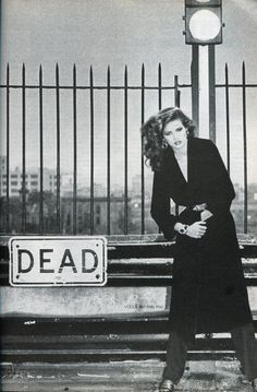 gia marie carangi-what an eerily ironic photo!