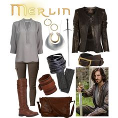 """""""Gwaine"""" by b-scottyer on Polyvore....if only this outfit also included Eoin Macken!"""