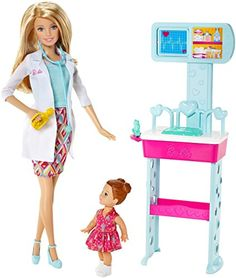 Explore new careers in depth with the Barbie Careers complete play sets! From medicine to teaching these focused females make anything possible! With the Barbie Careers Complete Play Doctor set girl...