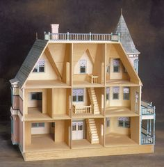 Haunted Dollhouse, Dollhouse Toys, Victorian Dollhouse, Dollhouse Furniture, Real Good Toys, Grand Entryway, Doll House Plans, Interior Stairs, Mansions Homes
