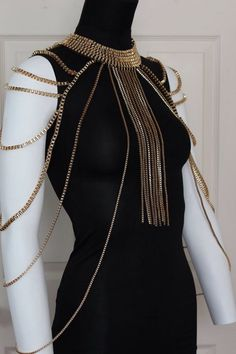 Fringe Layered Body Chain Gold Box Chains by crystalelements1 on Etsy https://www.etsy.com/listing/228759779/fringe-layered-body-chain-gold-box