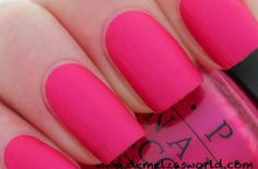 OPI La Paz Itively Hot Matte Although I Love Shiny Glittery Nails Like This Finish Probably Because Its Pink And