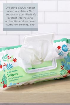 Hard on dirt, soft on skin Say goodbye to dirt and hello to hygiene with our soft-but-sturdy plant-cellulose wipes. Formulated with water and all-natural ingredients to suit even the most sensitive skin. Great for adults too! Organic Baby Wipes, Purified Water, Organic Plants, No Plastic, Alcohol Free, Cruelty Free, Biodegradable Products, Allergies, Sensitive Skin