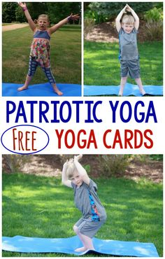I love that you can get FREE yoga cards a… Patriotic themed yoga/movement ideas! I love that you can get FREE yoga cards as well! They would be perfect for Memorial Day, Labor Day, Fourth of July and more! Physical Activities For Kids, Summer Activities, Toddler Activities, Spring Activites, Movement Activities, Preschool Yoga, Preschool Lessons, Preschool Ideas, Memorial Day Activities
