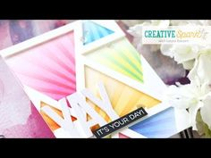 Creative Spark with Laura Bassen - Masking with Stencils and Dies Altenew Cards, Mft Stamps, Die Cut Cards, Pretty Cards, Ink Pads, Crafty Projects, Craft Videos, Diy Cards, Homemade Cards