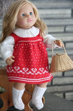 Doll knitting patterns so beautiful-Little red Riding hood