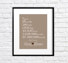 Anniversary Gift for Husband - 8x10 Personalized Art Print, Anniversary Date, And Counting, Romantic Gesture, Gift for Girlfriend, Boyfriend...