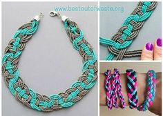Easy and simple way to make DIY jewelry - DIY handmade weaved necklace tutorial for all ladies !!