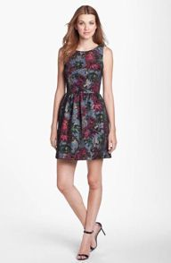 FELICITY & COCO XL XLarge Print Fit & Flare Dress Nordstrom Exclusive NWT