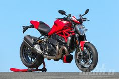 2016 Ducati Monster 1200 R static front 3/4 view