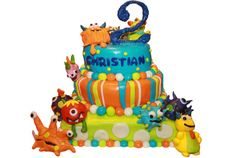 monster cake:  Shell I really love this one! Could we maybe do this minus a few monsters and smaller version?