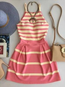 Vestido - Estação Store Girly Outfits, Pretty Outfits, Dress Outfits, Cool Outfits, Fashion Dresses, Casual Day Dresses, Cute Dresses, Casual Outfits, Teen Fashion