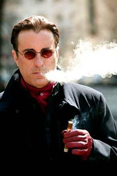 Andy Garcia taps into his Cuban roots with a good cigar!
