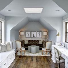 9 Super Genius Ideas: Finished Attic Dormers old attic apartment.Attic Renovation Before And After attic stairs spiral. Home Design, Attic Design, Interior Design, Design Ideas, Library Design, Bed Design, Interior Ideas, Design Inspiration, Attic Loft
