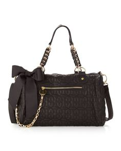 Love Drops Quilted Satchel, Black - Last Call by Neiman Marcus