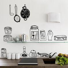 Vinilo Chispum Garde manger by A. Maillabaux, decoración de cocina ::: Chispum wall decal GArde Manger by A. Maillarbaux, kitchen decor