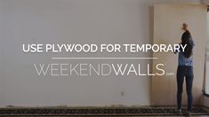 Learn how to install temporary reclaimed wood paneling with plywood!