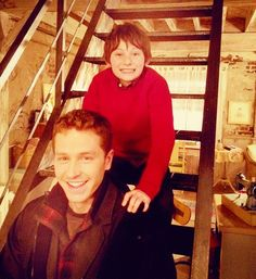 Josh Dallas and Jared Gilmore (AKA David and Henry in Once Upon a Time)