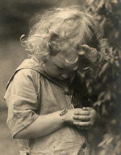 Child with caterpillar
