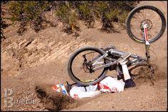 Mike Johnson crashing with perfect form, still clipped in! #mtb #fail   © 2010 Pat Branch / PBmedia #mountainbiking