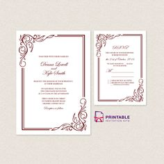 Wedding Invitation Templates Free Pdfs With Easy To Edit Text Fields Just Type Your Information And You Re Set Go