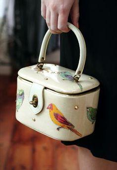 Vintage Birdie Vanity Case