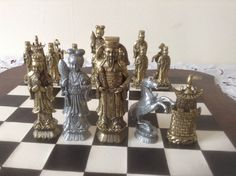 Stunning Vintage Chess Set Antique Chinese от ScottsFrenchTreasure
