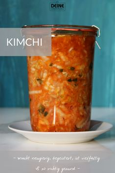 Simple kimchi - your-ernaehrung.de - Kimchi is the lactic fermenting national dish of Korea. It serves as a vitamin C storage for the wi - Raw Food Recipes, Indian Food Recipes, Vitamin C Foods, Polynesian Food, Easy Chinese Recipes, National Dish, Fermented Foods, Diet Meal Plans, Winter Food