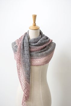 Ravelry: Lighthouse shawl with Lakes Yarn & Fiber Silk Single Fingering - knitting pattern by Janina Kallio.