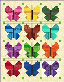 January 2017 RSC block I finally caved. For the past several years I have been drooling over all the beautiful blocks and quilts poppin. Quilt Square Patterns, Paper Piecing Patterns, Quilt Block Patterns, Square Quilt, Pattern Blocks, Quilt Blocks, Butterfly Quilt Pattern, Vogel Quilt, Bird Quilt