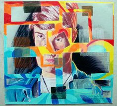 fractured portraiture high school art lesson great idea for ...