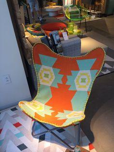 crocheted chair