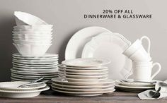 Dinnerware & Glassware Sale