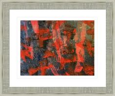 abstract black & red painting 8916, by  fractal mandala art