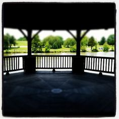 The view from the gazebo at the Duck Pond