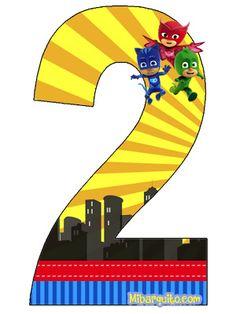 Espectaculares números de Pj Masks para descargar, imprimir y también decorar con Catboy, Gekko y Owlette, así mismo estos números de los Héroes en Pijamas pueden aplicarse también para aprender ju…