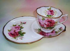 tea cup and saucer sets | Royal Albert American Beauty Tennis Set Tea Cup and Saucer Set