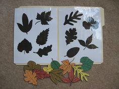 Fumbling Through Parenthood: File Folder Games - Leaf shadow match