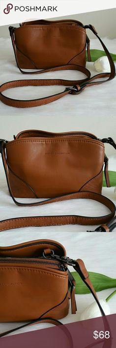 """NWT  Beautiful French Connection Crossbody. Keep your style fresh with French Connection Crossbody, which converts to clutch in a snap by removing its detachable strap.  8""""W X 6 """" H X 3"""" D  Faux leather.  Interior features 1 zip pocket and 2 slip pockets, triple compartment design with center zip compartment and 2 magnetic snap compartments.  24"""" L adjustable and detachable strap.  Top zip closure.  Exterior features 2 Magnetic snap pockets.  Smoke and pet free home. Fast shipping + extra…"""