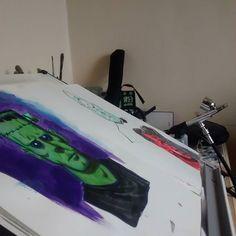 Aerografia no sketchbook.  #airbrushing  #airbrush  #sketchbook