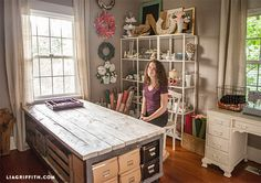 A bloggers prop room and craft supply storage room @LiaGriffith.com