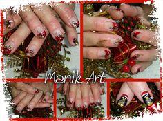 #christmas #red #gold #neol #nail #nailart #design Red Gold, Nailart, Christmas, Design, Ongles, Xmas, Weihnachten, Navidad, Yule