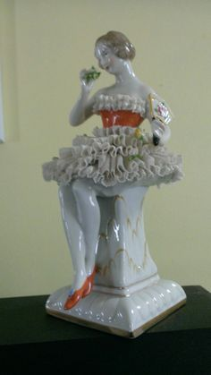 Dresden Porcelain Lace Ballerina Taenzerin Figurine   eBay