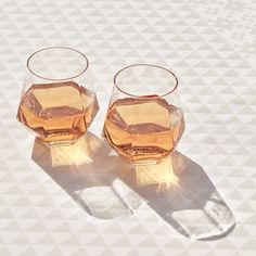 Impress your guests with this geometric mouth-blown crystal glass carafe and matching crystal glasses Whether you're serving whiskey, wine, white Crystal Glass Set, Faceted Crystal, Faceted Glass, Crystal Room, Crystal Glassware, Wine Glass Set, Quartz Crystal, Fused Glass, Design Shop