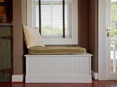 HOW TO BUILD A WINDOW BENCH SEAT Utilize the often unused space underneath a window to create a DIY bench for additional seating. # how to build a room addition diy network How to Build a Window Bench Seat Window Storage Bench, Window Benches, Bench With Storage, Window Seats, Hidden Storage, Storage Ideas, Room Window, Book Storage, Bay Window