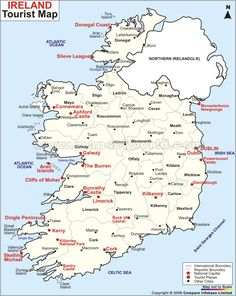 Ireland Travel Map.