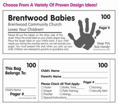 On The Door From Bed Bath Beyond Slots Are For Pas To Leave Sippy Cups And Diapers Kidmin Decor Ideas Pinterest Church Nursery