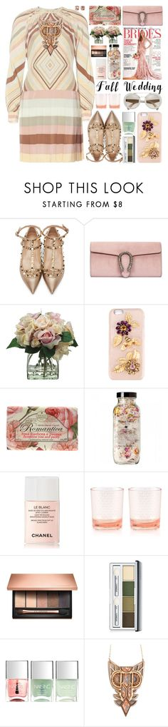 """Fall Wedding"" by barbarela11 ❤ liked on Polyvore featuring Valentino, Gucci, Allstate Floral, Dolce&Gabbana, Nesti Dante, Chanel, Kate Spade, Clarins, Clinique and Nails Inc."