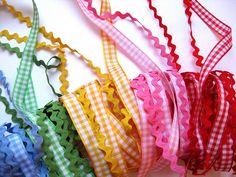 ♥  gingham ribbon & rick rack